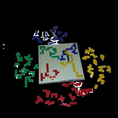 Matériel du jeu Blokus