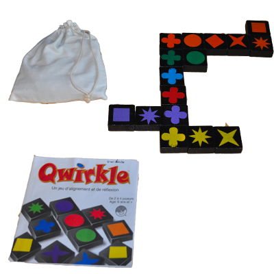 Matériel du jeu Qwirkle