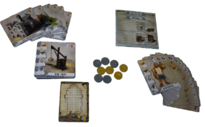Matériel du jeu Les Bâtisseurs Moyen-Âge