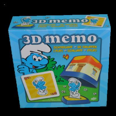 Boîte du jeu 3D Mémo des Stroumphs