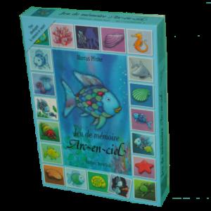 boîte du jeu Memo arc en ciel