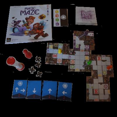 Matériel du jeu Magic maze