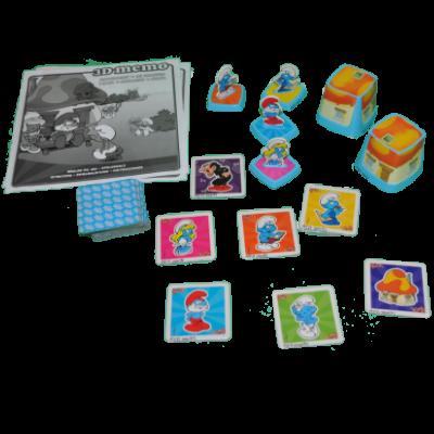 Matériel du jeu 3D Mémo des Schtroumpfs