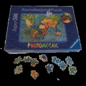 Image de puzzle photomosaïque