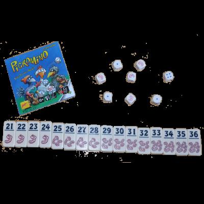 Matériel du jeu Pickomino