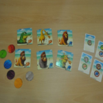 Matériel du jeu Galapago